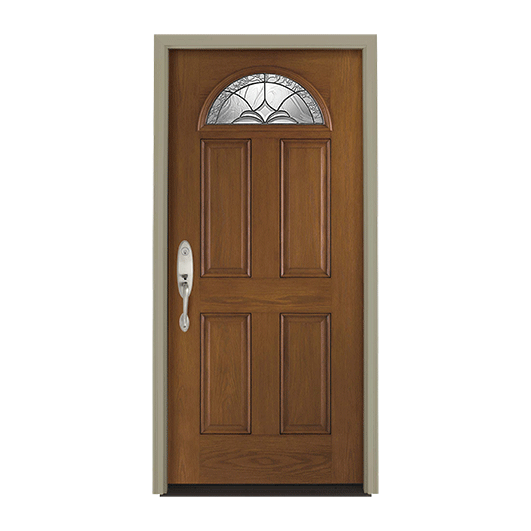Pella Fan Light Entry Door with Glass